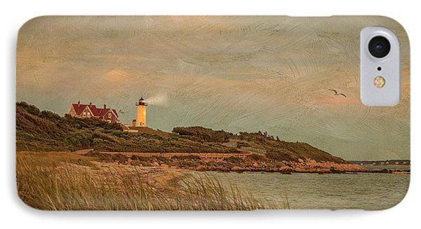 Autumn At Nobska Light House IPhone Case by Michael Petrizzo
