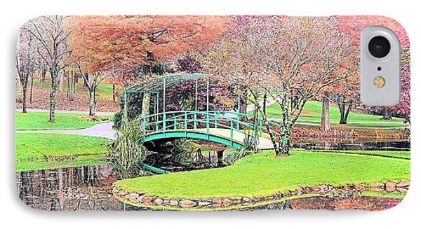 Autumn At The Faux Monet IPhone Case by James Potts