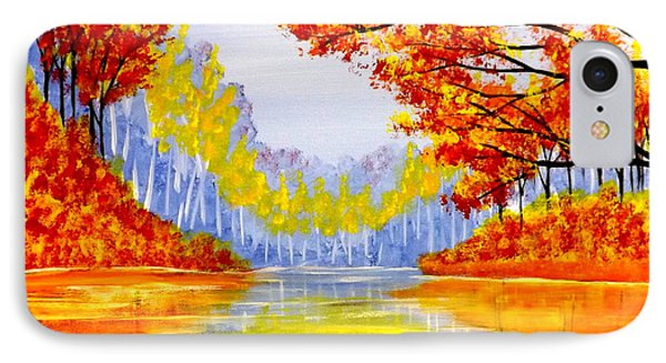 IPhone Case featuring the painting Autumn At The Lake by Darren Robinson