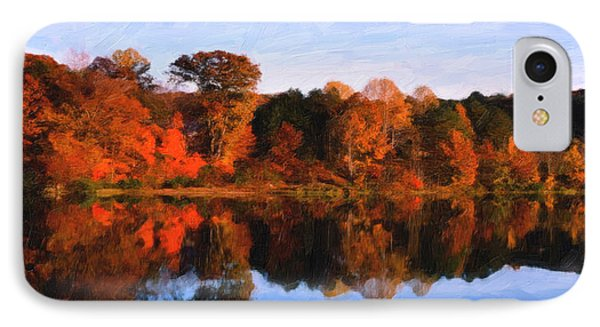Autumn At The Lake IPhone Case by Spyder Webb