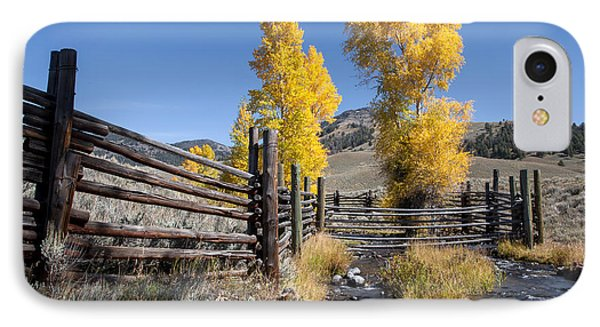 IPhone Case featuring the photograph Autumn At The Lamar Buffalo Ranch by Jack Bell