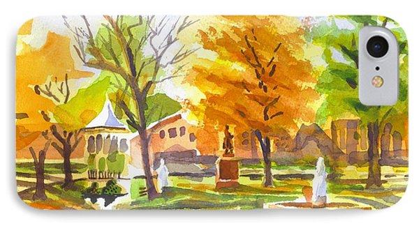 Autumn At The Villa Phone Case by Kip DeVore