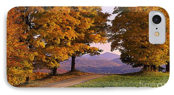 IPhone Case featuring the photograph Autumn Backroad View by Alan L Graham