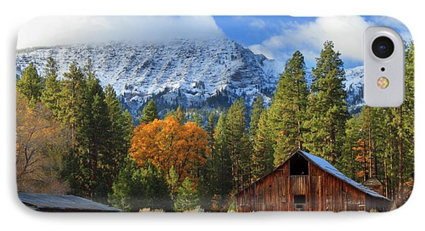 Autumn Barn At Thompson Peak IPhone Case