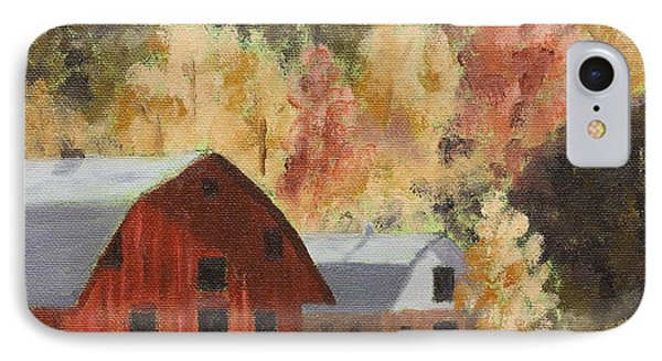 Autumn Barn Duo IPhone Case by Alan Mager