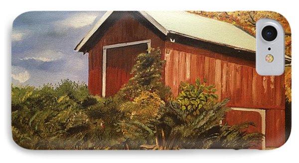 Autumn - Barn - Ohio IPhone Case by Jan Dappen