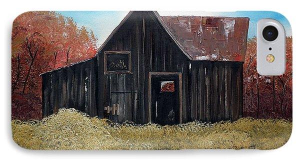 Autumn - Barn -orange IPhone Case by Jan Dappen