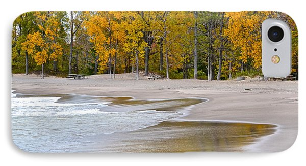 Autumn Beach Phone Case by Frozen in Time Fine Art Photography