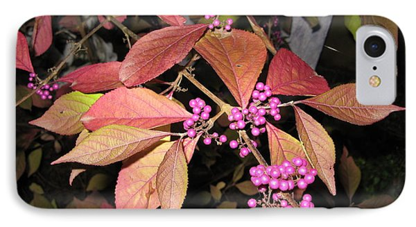 Autumn Beauty Berry IPhone Case by Marlene Rose Besso