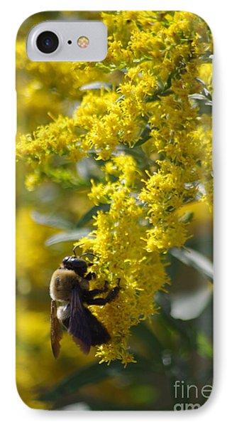 Autumn Bee Phone Case by Tannis  Baldwin
