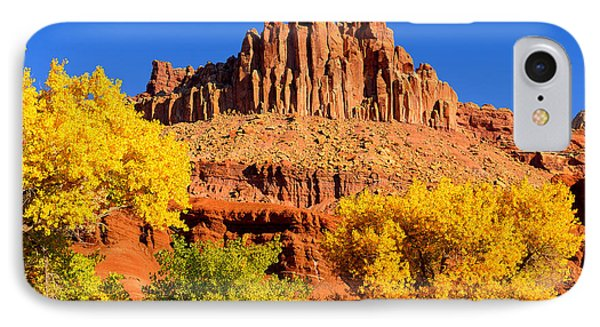 Autumn Beneath The Castle IPhone Case by Greg Norrell
