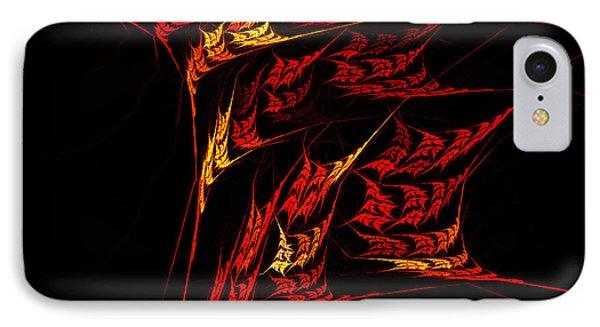 IPhone Case featuring the digital art Autumn Blaze by R Thomas Brass