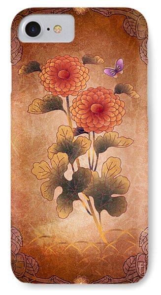 Autumn Blooming Mum Phone Case by Bedros Awak