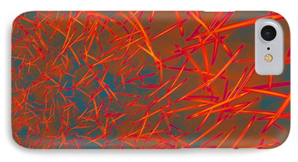 IPhone Case featuring the digital art Autumn Blowing In by Judi Suni Hall