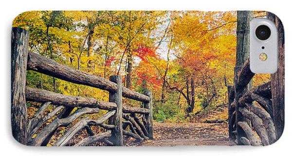 Autumn Bridge - Central Park - New York City IPhone Case