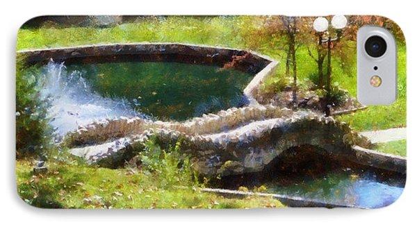 Autumn Bridge In Indiana IPhone Case by Dan Sproul