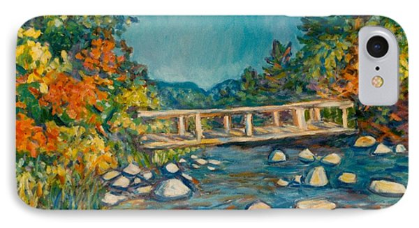 Autumn Bridge Phone Case by Kendall Kessler