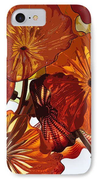 IPhone Case featuring the digital art Autumn Burst by Kirt Tisdale