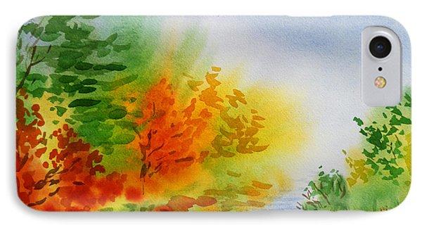 Autumn Burst Of Fall Impressionism IPhone Case by Irina Sztukowski