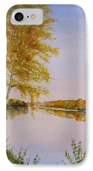 Autumn By The River IPhone Case by Martin Howard