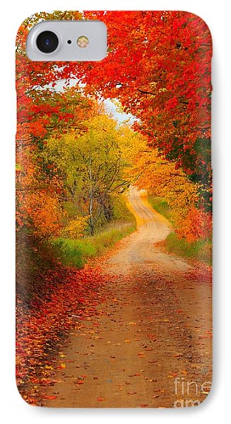 Autumn Cameo IPhone Case by Terri Gostola
