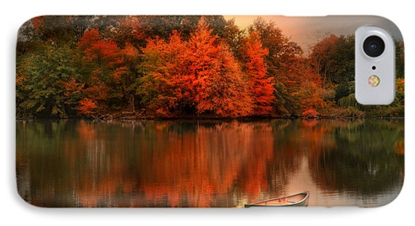 Autumn Canoe Phone Case by Robin-Lee Vieira