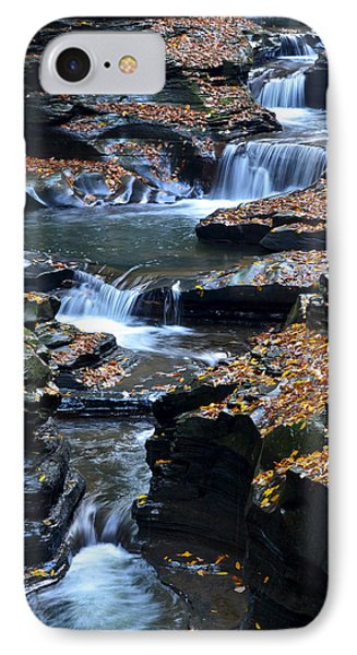 Autumn Cascade Phone Case by Frozen in Time Fine Art Photography