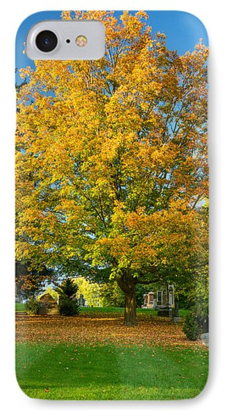 Autumn Cemetery IPhone Case by Steve Harrington