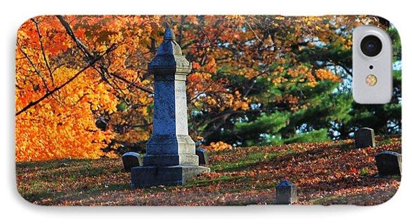 Autumn Cemetery Visit IPhone Case