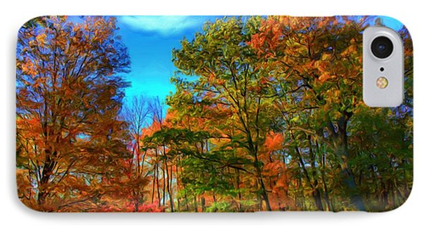 IPhone Case featuring the digital art Autumn Clearing by Dennis Lundell
