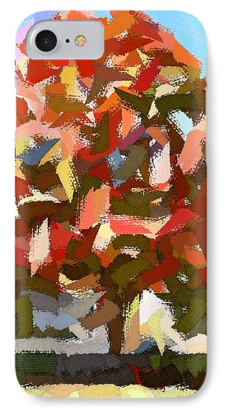 Autumn Color Riot Abstract IPhone Case by Patricia E Sundik