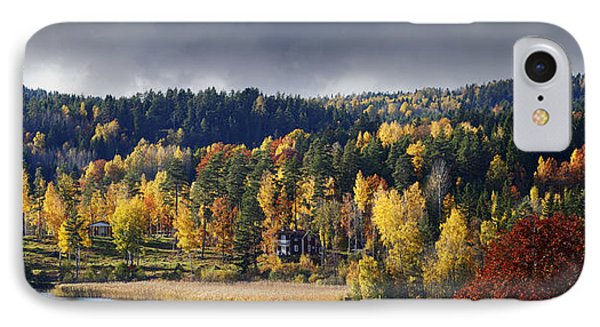 Autumn Colored Nature And Landscape IPhone Case by Christian Lagereek