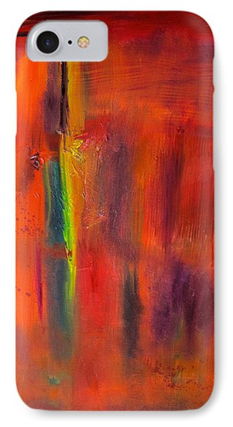 Autumn Colors Abstract IPhone Case by Kathryn Barry