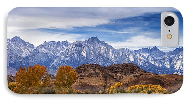 Autumn Colors And Mount Whitney IPhone Case by Andrew Soundarajan