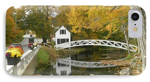 Autumn Colors At Somesville Bridge Mount Desert Island Maine Phone Case by Lena Hatch