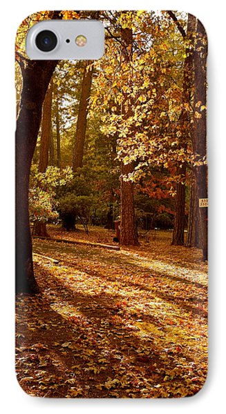 Autumn Country Lane Evening IPhone Case by Michele Myers