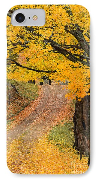 IPhone Case featuring the photograph Autumn Country Road by Alan L Graham