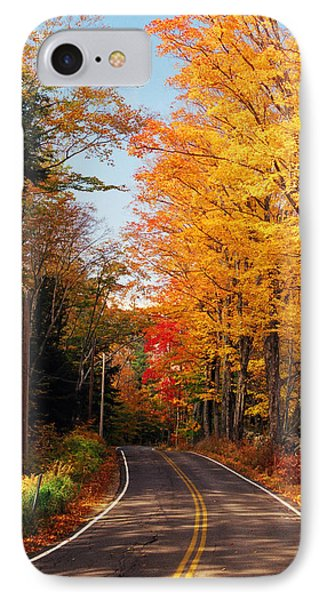 Autumn Country Road IPhone Case by Joann Vitali