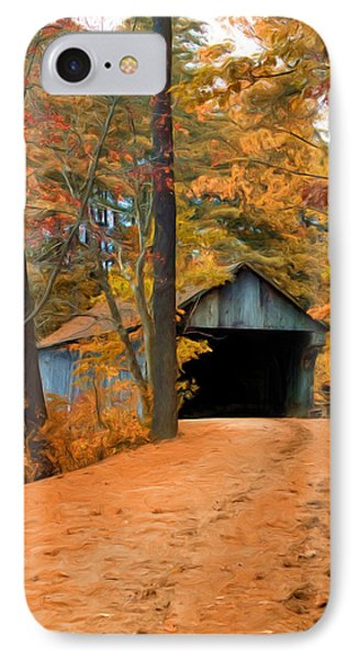 Autumn Covered Bridge IPhone Case by Joann Vitali