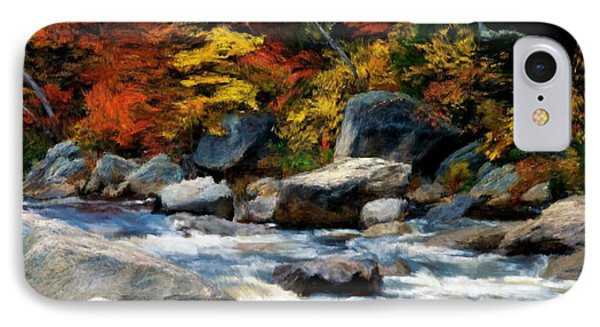IPhone Case featuring the painting Autumn Creek by Bruce Nutting