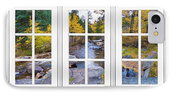 Autumn Creek White Picture Window Frame View IPhone Case by James BO  Insogna