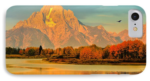 Autumn Dawn At Oxbow Bend IPhone Case by Greg Norrell