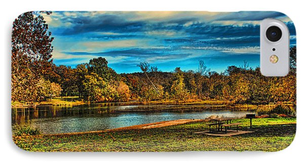 Autumn Day On The River IPhone Case by Rick Friedle