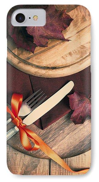 Autumn Dining Phone Case by Amanda Elwell
