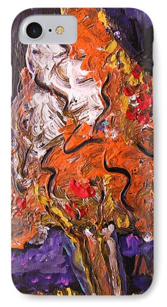 IPhone Case featuring the painting Autumn Display by Mary Carol Williams