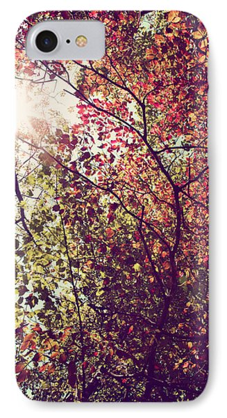 Autumn Dresses In Flame And Gold IPhone Case by Kim Fearheiley