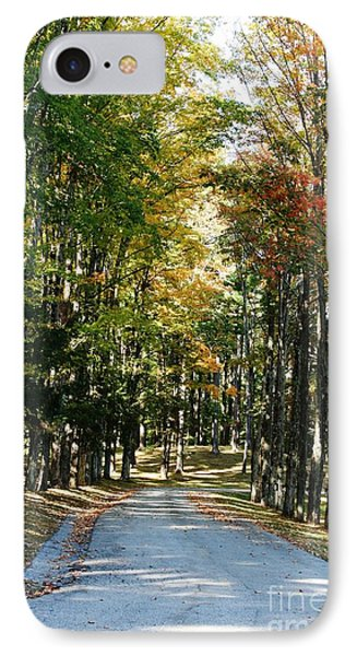 Autumn Drive IPhone Case