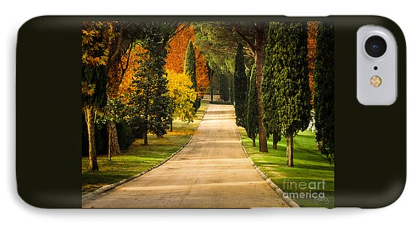 Autumn Drive IPhone Case by Prints of Italy