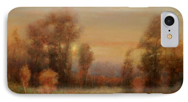Autumn Evening Glow IPhone Case by Richard Hinger