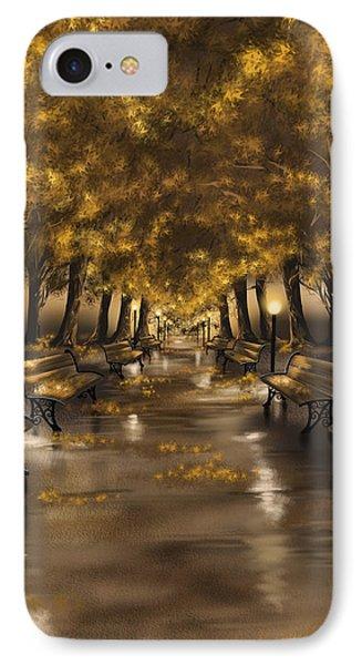 Autumn Evening IPhone Case by Veronica Minozzi